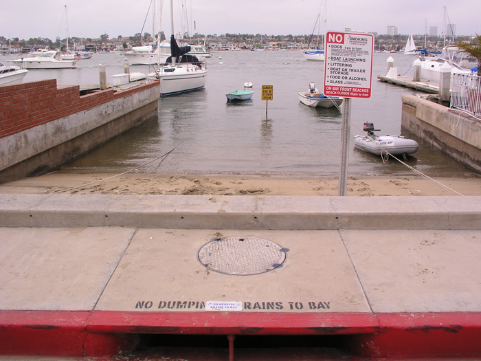 No Dumping Drains To Bay