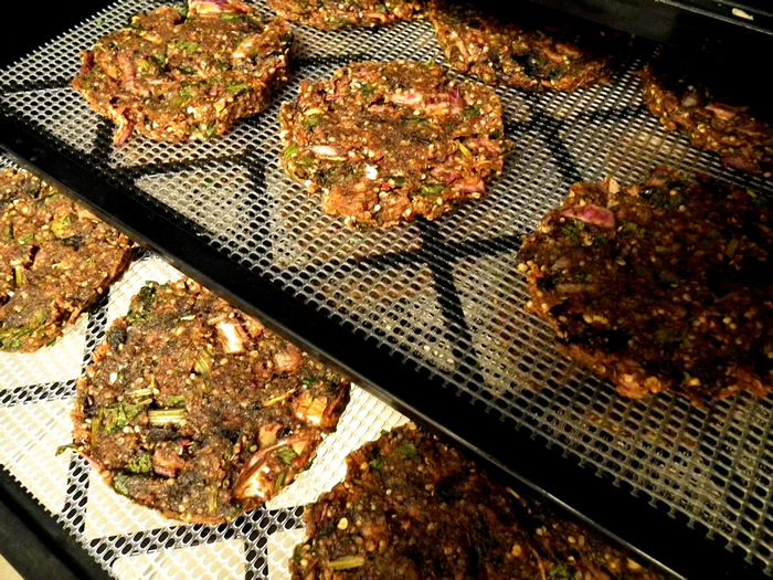 Raw dehydrated spicy fat vegan burgers raw vegan patties recipe forumfinder Image collections