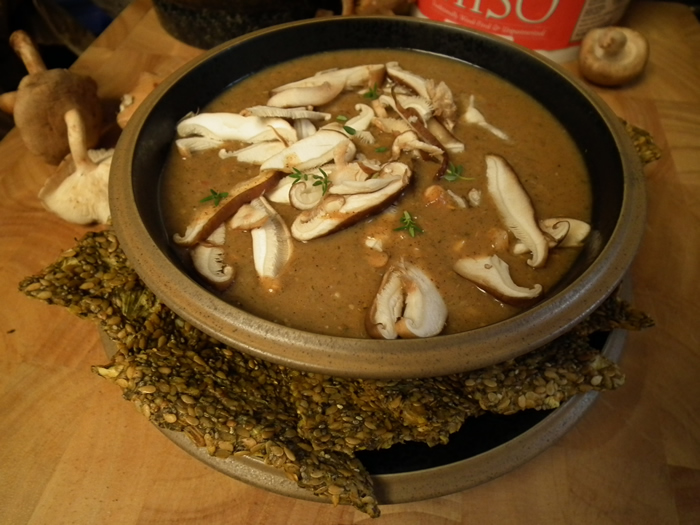 Raw Vegan Cream Shiitake Soup