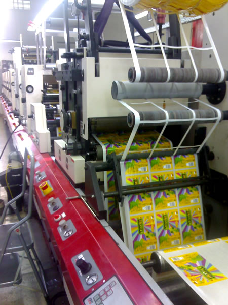 designer cans being printed