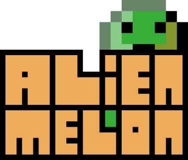 The AlienMelon logo. Full pixel glory.