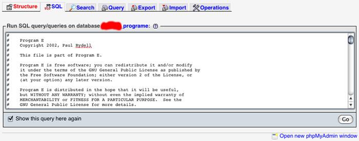Run SQL Query