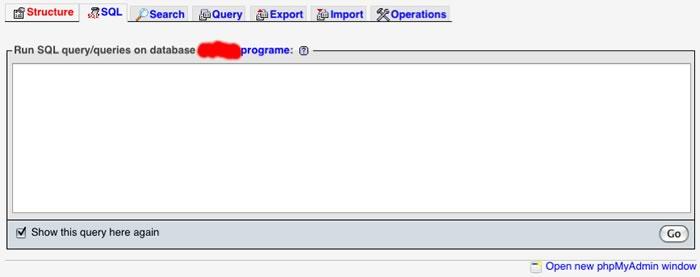 The SQL Tab...