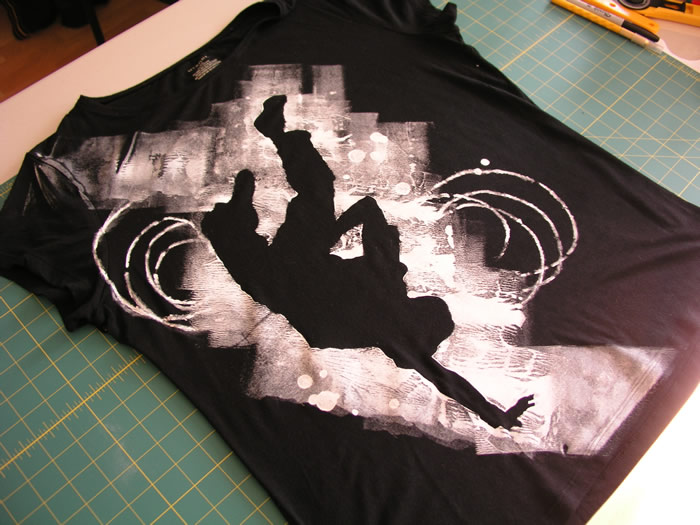 Breakdance stencil T