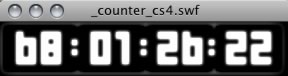Flash Countdown Timer From Server Time PHP